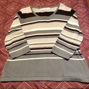 Women's Croft & Barrow Striped Sweater, XL
